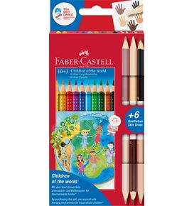 Faber-Castell - Pastelka Grip Children of the world pap.krabička 10+3
