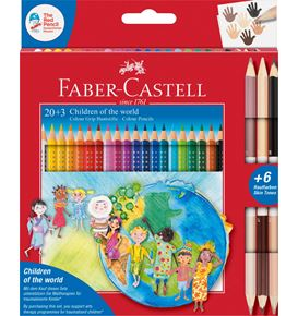 Faber-Castell - Pastelka Grip Children of the world pap.krabička 20+3