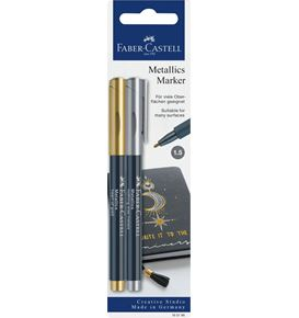 Faber-Castell - Popisovač Metallic, Heart of gold / nothing else metals