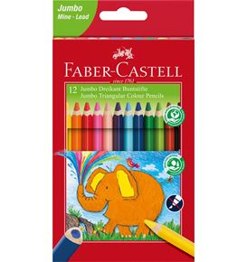 Faber-Castell - Pastelky trojhranné extra Jumbo