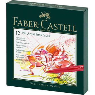 Faber-Castell - Popisovač Pitt Artist Pen Brush Studio Box, 12ks