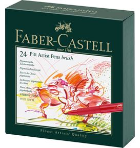 Faber-Castell - Popisovač Pitt Artist Pen Brush Studio Box, 24ks