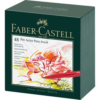 Faber-Castell - Popisovač Pitt Artist Pen Brush Studio Box 48ks